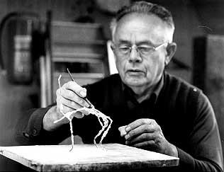 hm-art Hans Münger bei der Arbeit